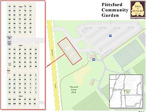 Pittsford Community Garden Map