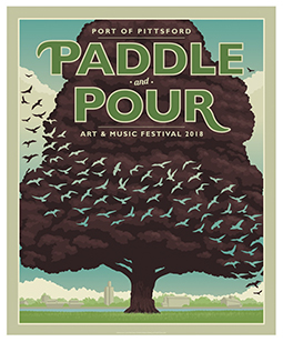 Paddle and Pour Poster